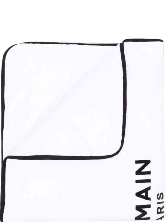 Balmain White Newborn Blanket