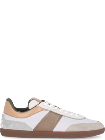 Tod's Leather And Fabric Sneaker