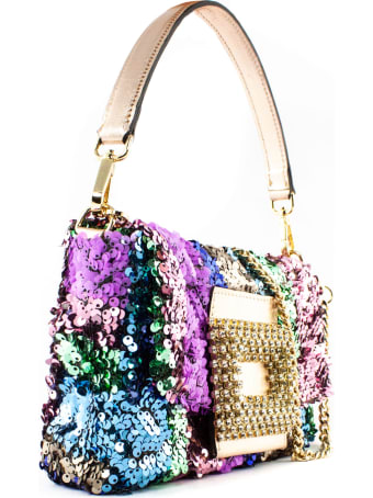 Gedebe Mylove Shoulder Bag In Multicolor Paillettes
