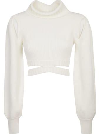 Andrea Adamo Turtleneck Longsleeve Cropped Sweater