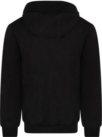 Les Hommes Black Sweatshirt For Boy