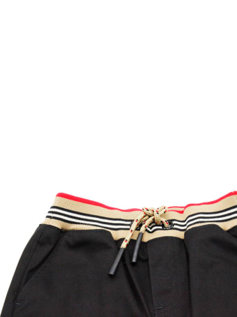 Burberry Cotton Trousers With Drawstring At The Waist