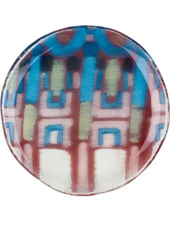Le Botteghe su Gologone Plates White Murano Glass Colores 1 Bowl  20 Cm