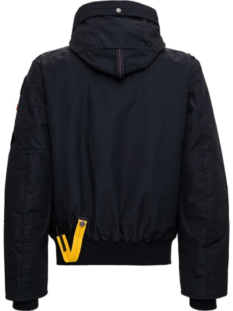 Parajumpers Black Nylon Down Jacket With Hook Detail