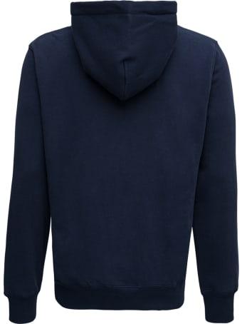 Evisu Blue Cotton Hoodie With Logo Print