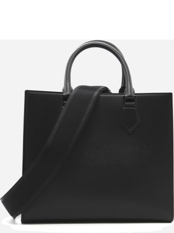 Dolce & Gabbana Edge Leather Bag With Tone-on-tone Logo Engraving