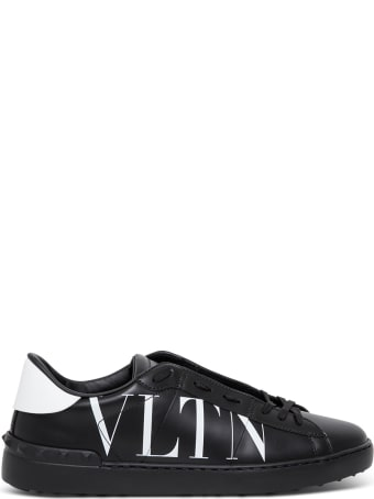 Valentino Garavani Open Leather Sneakers With Vltn Print