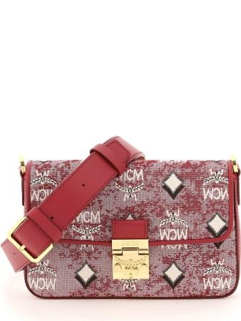 MCM Vintage Jacquard Mini Crossbody Bag