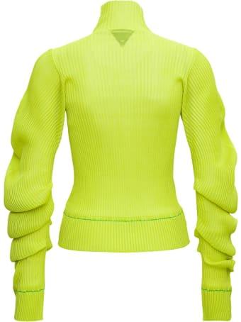 Bottega Veneta Kiwi Silk High Neck Sweater