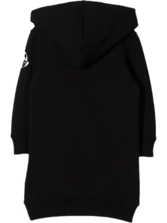 Moncler Black Stretch-cotton Blend Dress