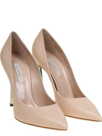 Casadei Decollete' Blade In Powder Color Leather
