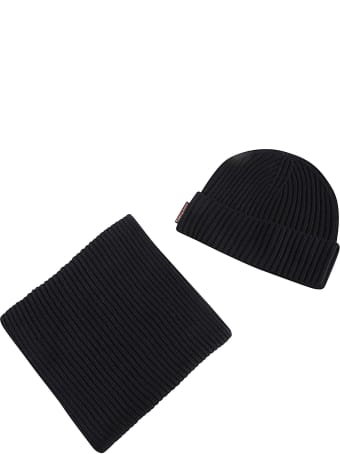 Dsquared2 Ribbed Knit Beanie Set
