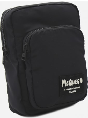 Alexander McQueen Waist Bag In Technical Fabric With Jacquard Logo