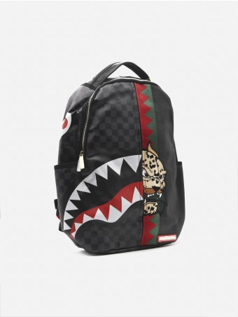 Sprayground Backpack With Shark Insert And Check Print