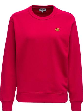 Kenzo Pink Jersey Sweatshirt With Logo Patch