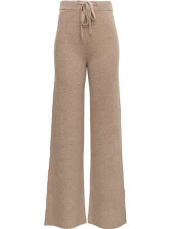 Federica Tosi Cashmere And Wool Beige Trousers