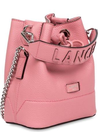 Lancel Grained Cow Leather Bucket Bag