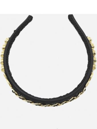 Dolce & Gabbana 90's Satin Headband With Logo Lettering