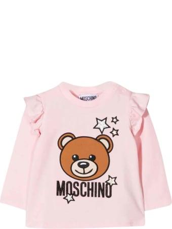 Moschino Newborn Pink T-shirt