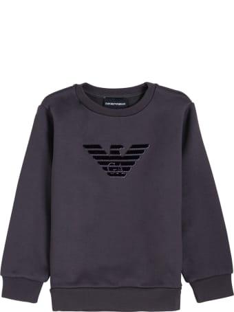Emporio Armani Black Modal Blend Sweatshirt With Logo
