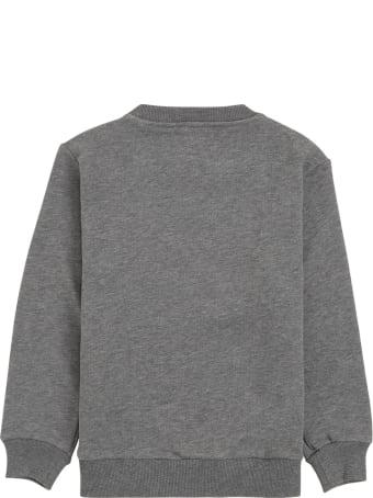 Il Gufo Grey Cotton Sweatshirt With Bear Print