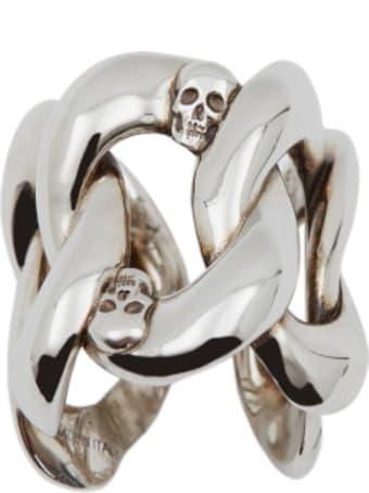 Alexander McQueen Skull Chain Ring