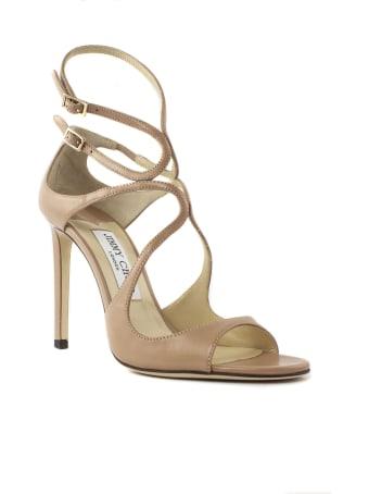 Jimmy Choo Ballet-pink Leather Sandal