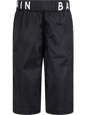 Balmain Black Swim Trunks For Boy