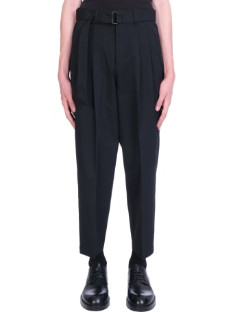 Attachment Pants In Black Wool