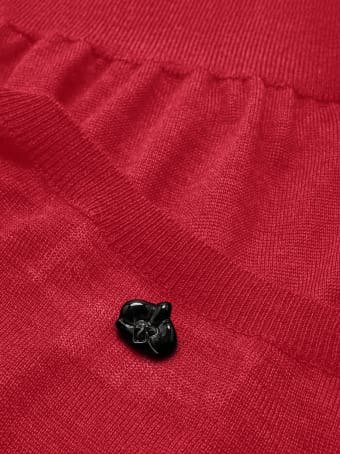 Genny Superlight Cashmere And Silk-blend Red Sweater