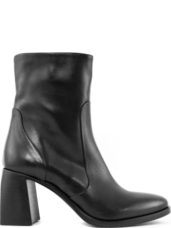 Elena Iachi Black Leather Ankle Boot