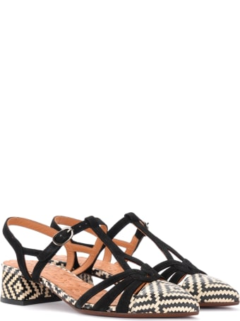 Chie Mihara Rosali Sandals In White And Black Leather