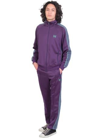 Needles Sweatshirt In Viola Polyester