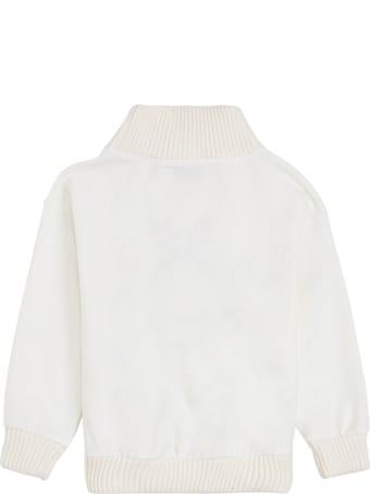 Moschino White Cotton Sweatshirt With Teddy Print