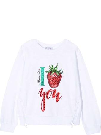 Monnalisa White T-shirt With Print