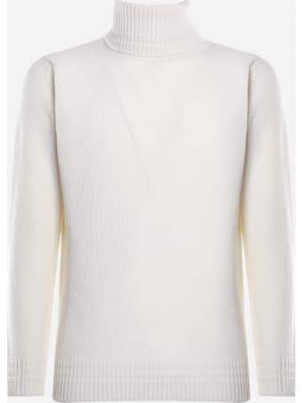Dondup High Neck Sweater In Merino Wool