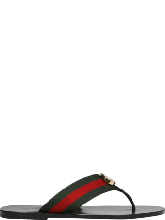 Gucci Gg Web Tape Sandals