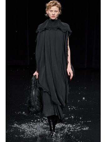 Balenciaga Dress In Black Polyester