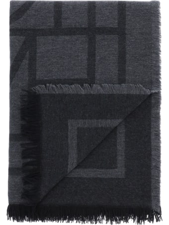 Totême Monogram Wool And Cashmere Stole