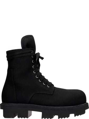 DRKSHDW Army Megrton Combat Boots In Black Canvas