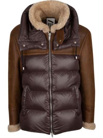 DROMe Colourblock Puffer Jacket