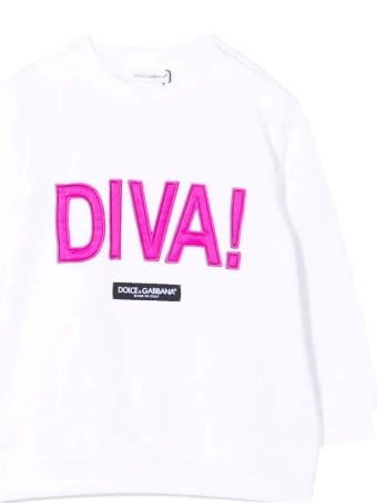 Dolce & Gabbana Newborn White Sweatshirt