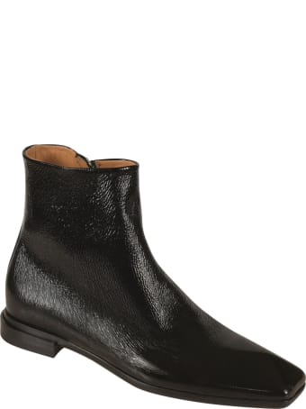 Paciotti 4US Side Zip Shiny Leather Chelsea Boots