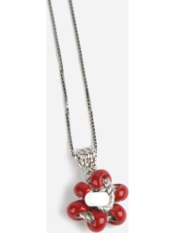 Bottega Veneta Silver Necklace With Pendant
