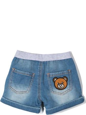 Moschino Denim-blue Cotton Shorts