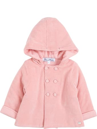 Tartine et Chocolat Double-breasted Pink Cotton Coat