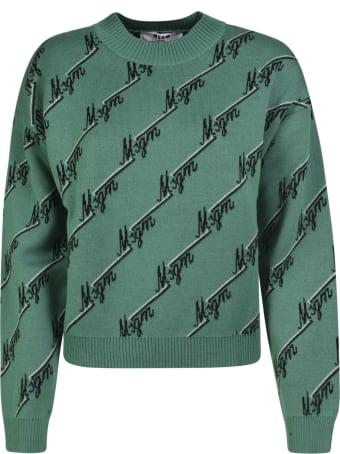 MSGM Logo Motif Knit Sweater