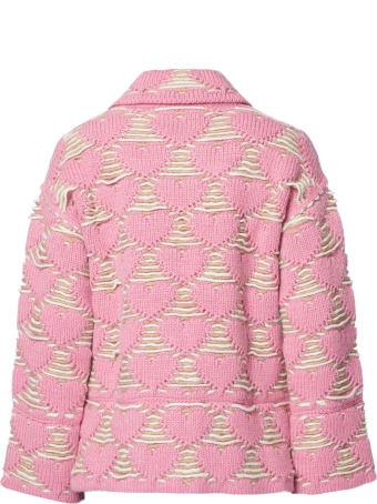 Marco Rambaldi Pink Wool Blend Knitted Jacket