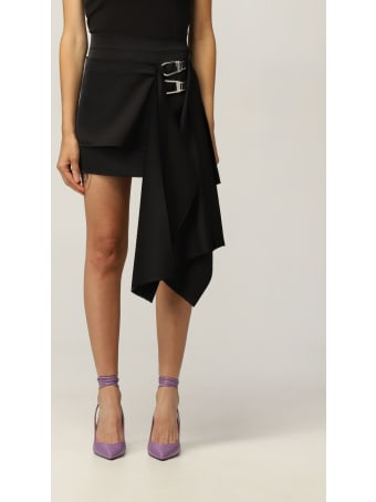 The Attico Skirt The Attico Mini Skirt With Panels And Snap Hooks