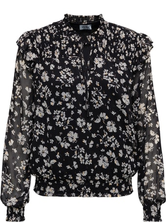 Liu-Jo Floral Fabric Black Shirt